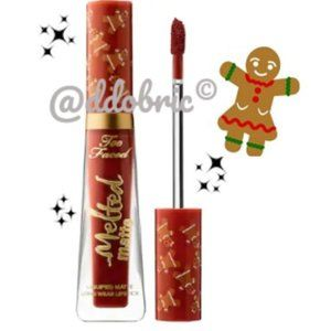 Too Faced GINGERBREAD GIRL Melted Matte Lip Gloss